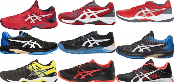 buy black asics tennis shoes for men and women
