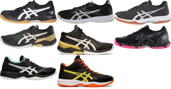 buy black asics volleyball shoes for men and women