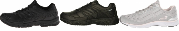 buy black avia walking shoes for men and women
