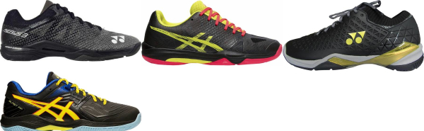 buy black badminton shoes for men and women