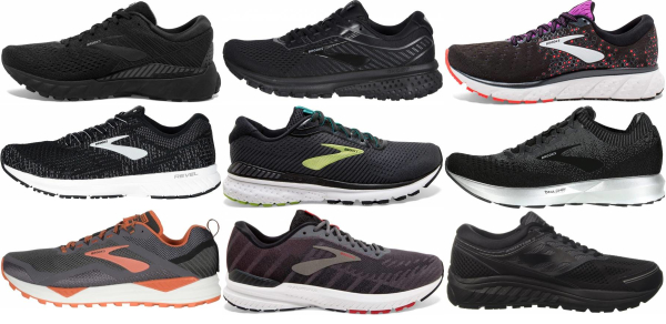buy black brooks running shoes for men and women
