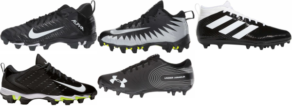 buy black cheap football cleats for men and women