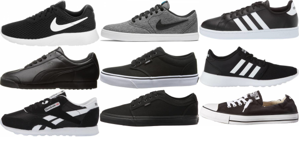 buy black cheap sneakers for men and women