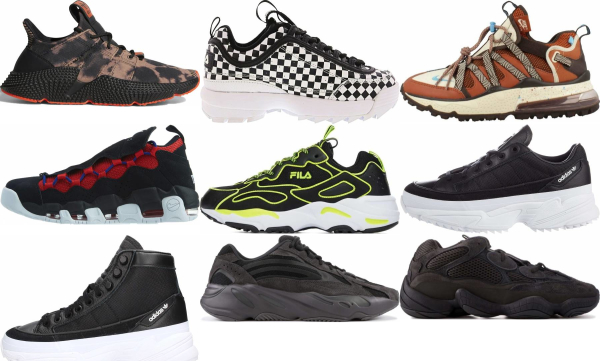 buy black chunky sneakers for men and women