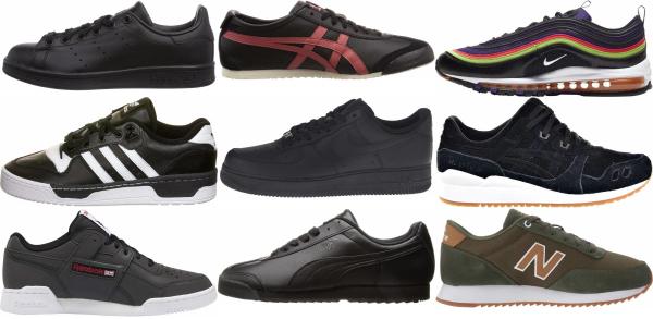 buy black classic sneakers for men and women