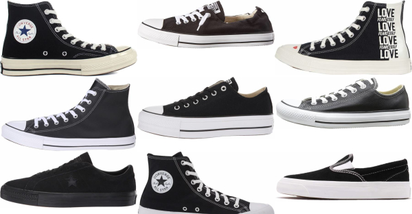 buy black converse sneakers for men and women