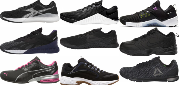 buy black cross-training shoes for men and women