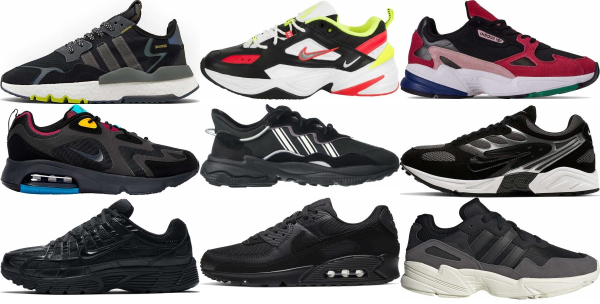 buy black dad sneakers for men and women