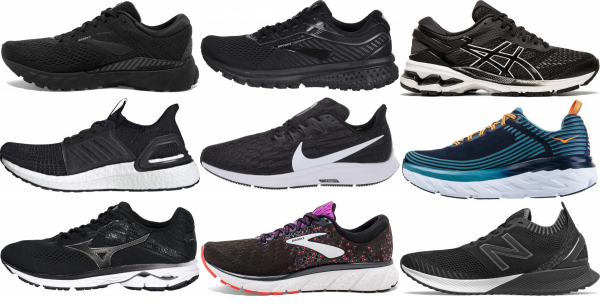 buy black daily running shoes for men and women
