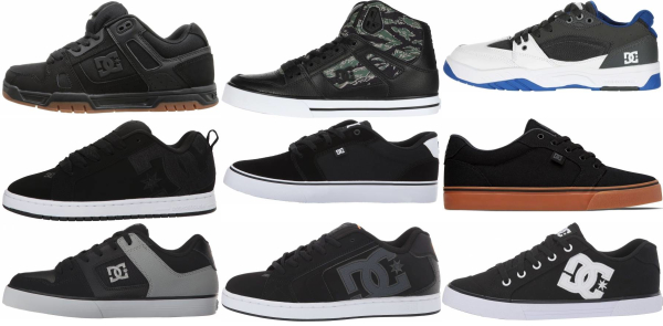 buy black dc sneakers for men and women