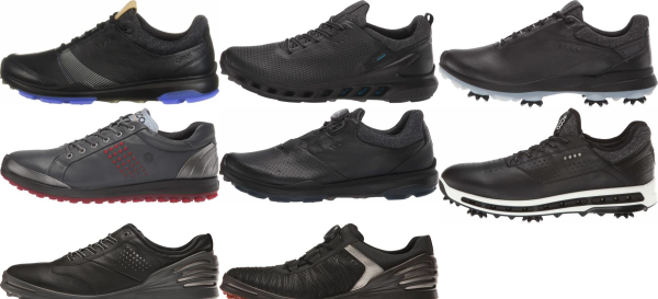 buy black ecco golf shoes for men and women