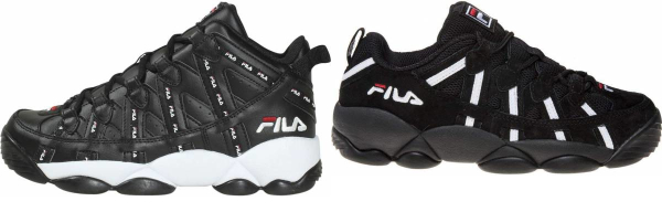 buy black fila basketball shoes for men and women