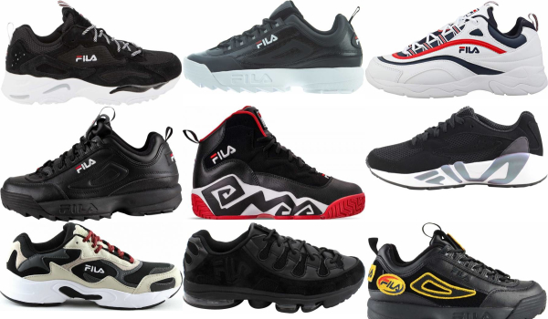 buy black fila sneakers for men and women