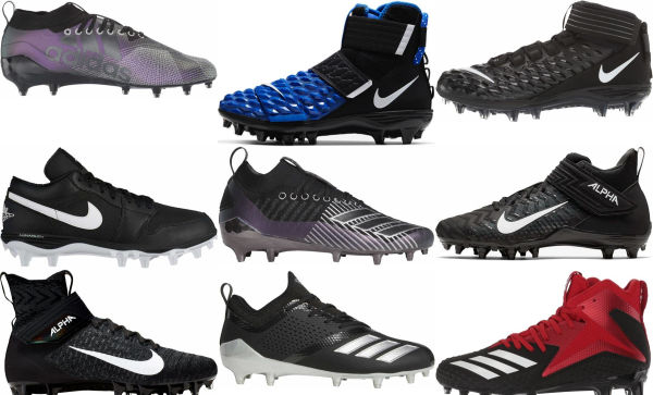 buy black football cleats for men and women