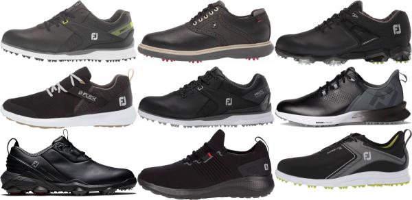 buy black footjoy golf shoes for men and women