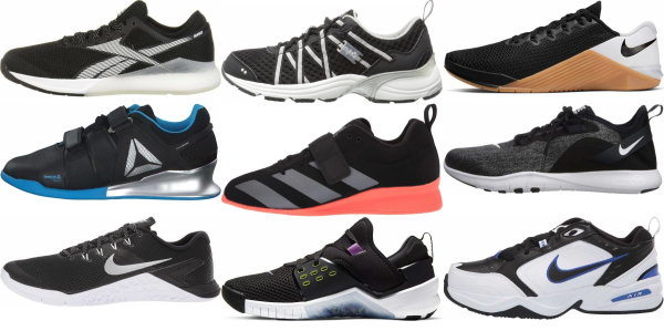 buy black gym shoes for men and women