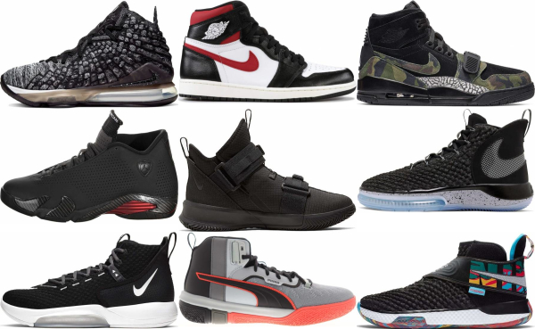 buy black high basketball shoes for men and women