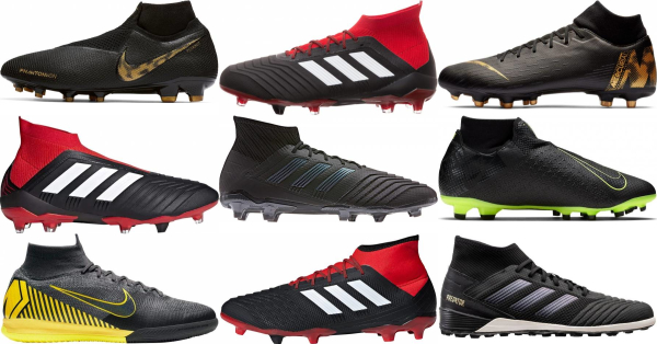 buy black high top soccer cleats for men and women