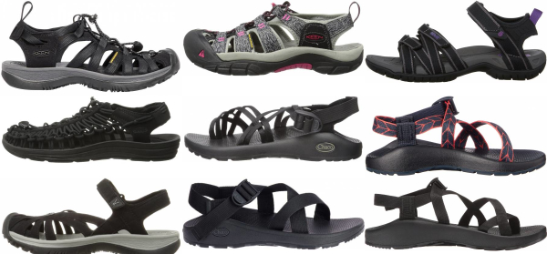 buy black hiking sandals for men and women