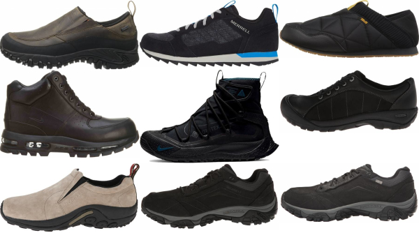buy black hiking sneakers for men and women