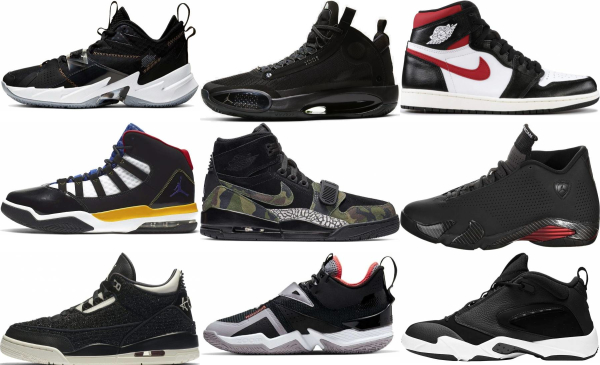 buy black jordan basketball shoes for men and women