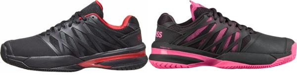buy black k-swiss tennis shoes for men and women