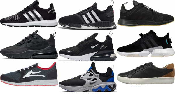 buy black knit sneakers for men and women