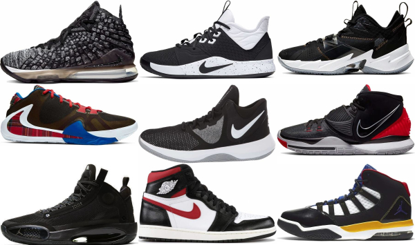 buy black lace-up basketball shoes for men and women