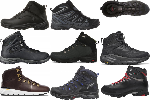 buy black lace up hiking boots for men and women