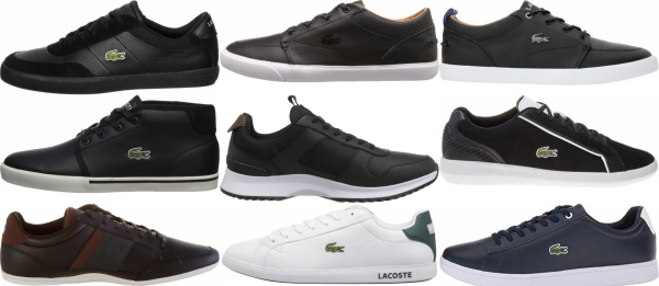 buy black lacoste sneakers for men and women