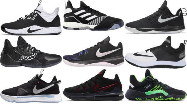 buy black low basketball shoes for men and women