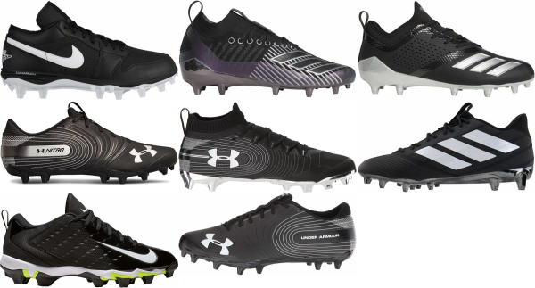 buy black low football cleats for men and women