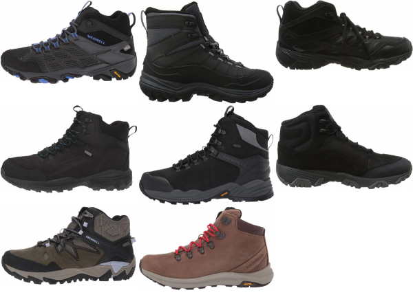 buy black merrell hiking boots for men and women