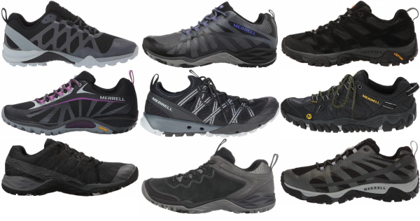 buy black merrell hiking shoes for men and women
