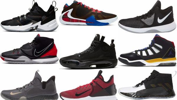 buy black mid basketball shoes for men and women