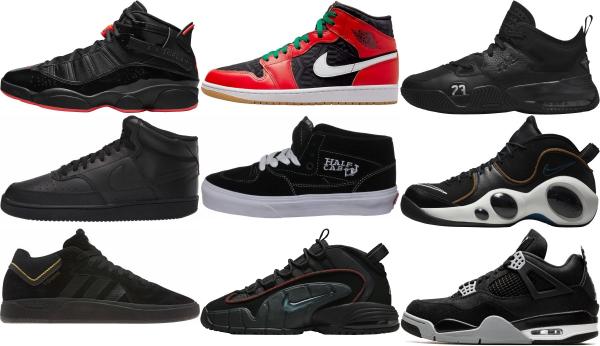 buy black mid top sneakers for men and women