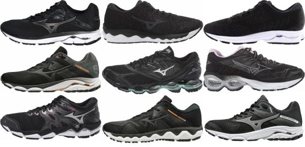 buy black mizuno running shoes for men and women