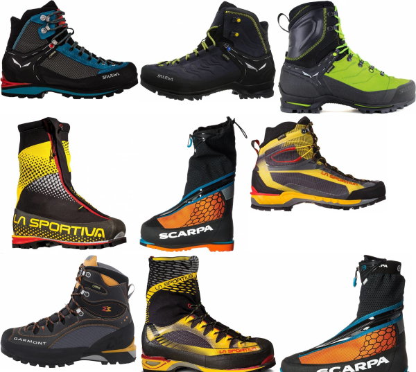 buy black mountaineering boots for men and women