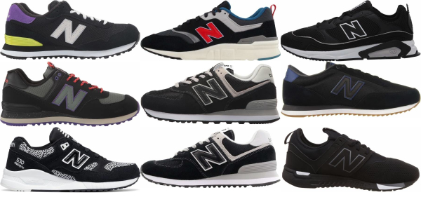 buy black new balance sneakers for men and women