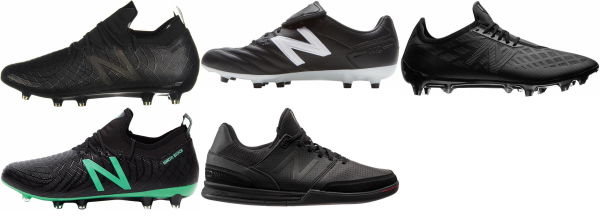 buy black new balance soccer cleats for men and women