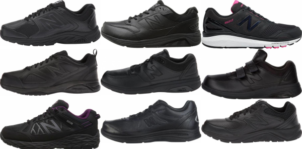 buy black new balance walking shoes for men and women