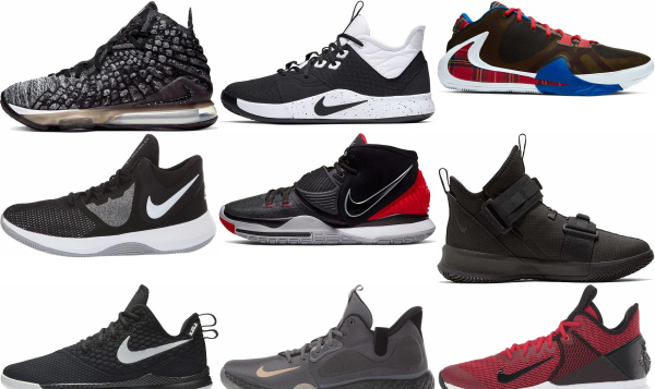 buy black nike basketball shoes for men and women