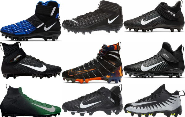 buy black nike football cleats for men and women