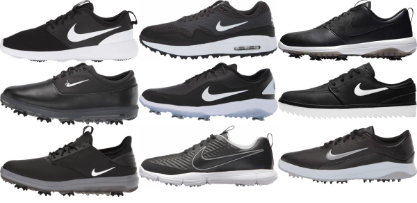 buy black nike golf shoes for men and women