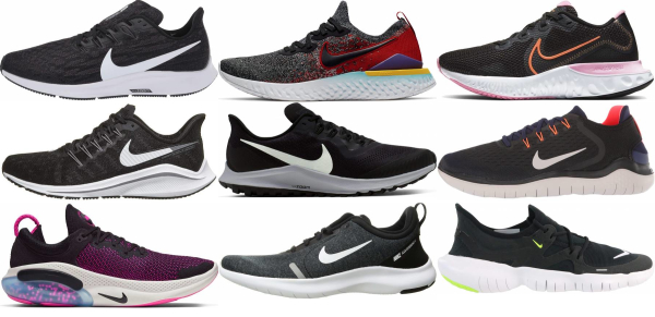 buy black nike running shoes for men and women