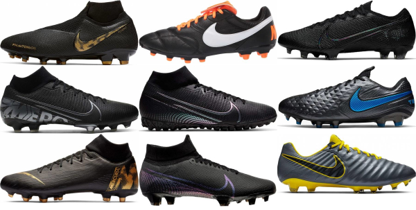 buy black nike soccer cleats for men and women