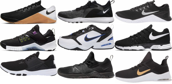 buy black nike training shoes for men and women