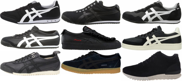 buy black onitsuka tiger sneakers for men and women