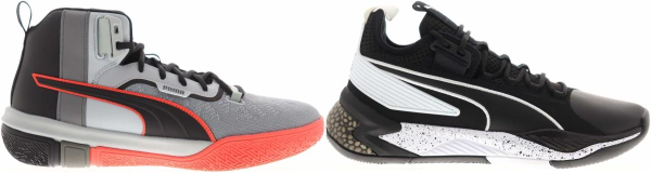buy black puma basketball shoes for men and women