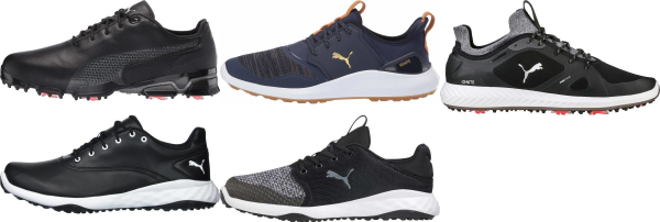 buy black puma golf shoes for men and women